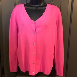 Joseph A. Button Down Pink Long Sleeve Sweater